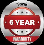 Tank 6 Year Warranty